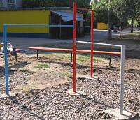 Турник трехуровневый, спортивная площадка, фото 1