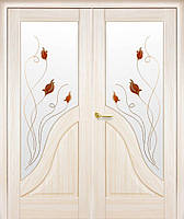 Двери межкомнатные  двустворчатые Амата с рисунком