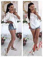 Женская  красивая шелковая блуза, 3 цвета