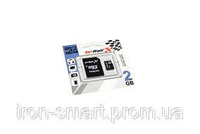 Карта памяти microSD, 2Gb, Hi-Rali, SD адаптер (HI-2GBSD-01)
