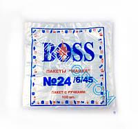 """Полиэтиленовые пакеты майка """"BOSS"""" №24 6/45"""