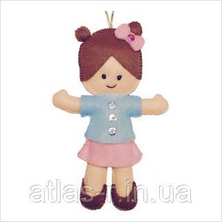 """Набір для творчості з фетру """"Декоративна іграшка Лялька"""""""