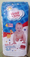 Подгузники Yess Baby Jumbo 4 maxi 7-18кг (50 шт) (4810)