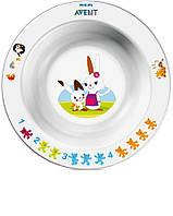 Детская тарелка для кормления Avent 6+ ( глубокая )