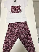 Костюм, спортивный набор для девочек с принтом