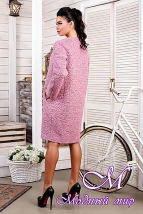 Женское розовое демисезонное пальто больших размеров (р. 44-62) арт. 1018 Тон 17, фото 2