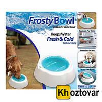 Охлаждающая миска для воды для домашних животных Frosty Bowl | Миска для собак с охлаждающим гелем