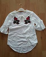 Детская блузка на девочку с вышивкой Турция оптом