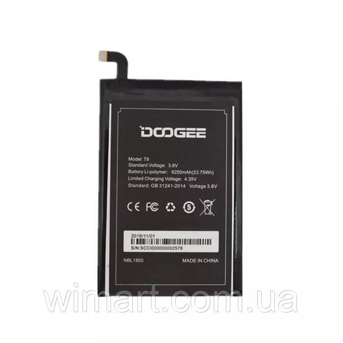 Аккумулятор Doogee T6, T6 Pro, HOMTOM HT6 6250 мАч. Оригинал