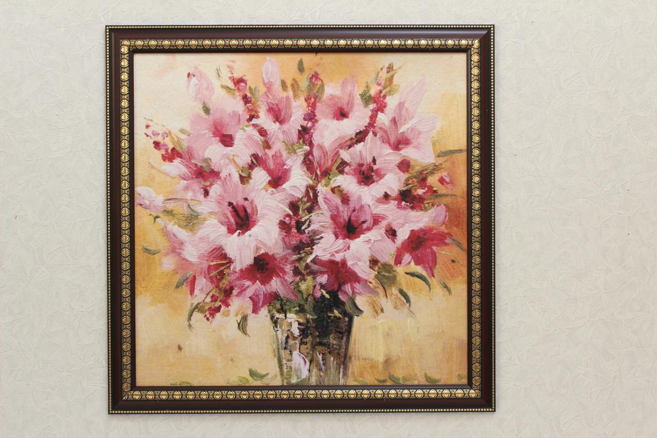 """Картина """"Цветы на золотом фоне"""""""