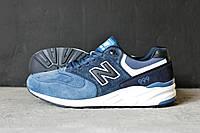 Кроссовки мужские New Balance 999 замшевые синие
