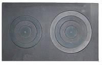 Чугунная плита с двумя конфорками (76 х 45,5 см)