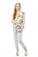 Брюки-джоггеры для беременных — Меланж Love and Carry Лав энд Керри бесплатная доставка новой почтой