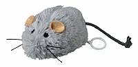 Игрушка Trixie Wind Up Wriggle Mouse для кошек плюшевая вибрирующая, 8 см