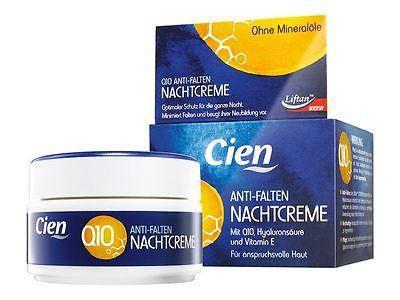 Крем для лица  Cien Anti-Falten Night Cream Q10, ночной 50мл, фото 2