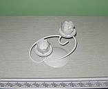 Кованый подсвечник на 2 свечи, фото 4