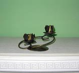 Кованый подсвечник на 2 свечи, фото 6