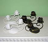 Кованый подсвечник на 2 свечи, фото 2