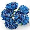 Букетик Хризантема Элит d=3.5-4см  (цена за букет из 6 шт). Цвет - синий.