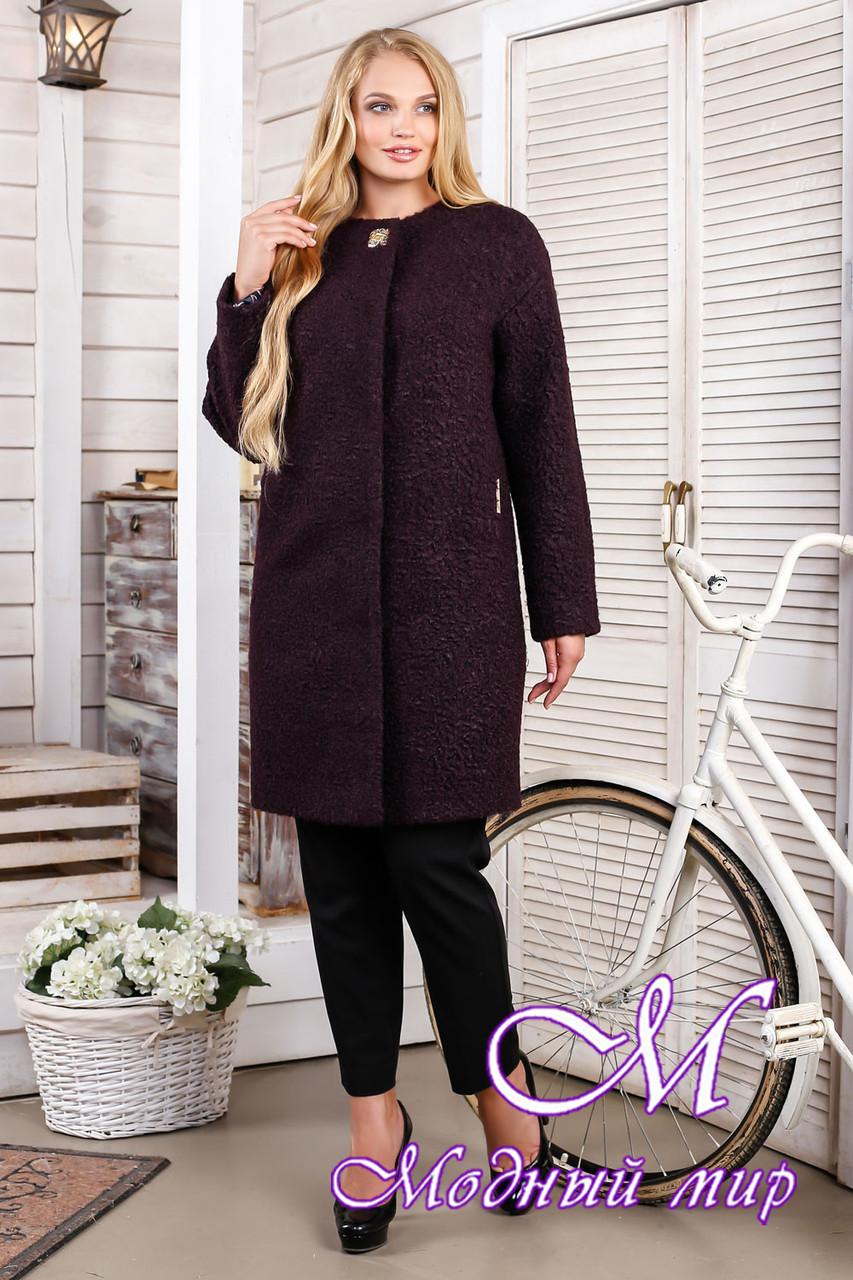 Женское модное демисезонное пальто большого размера (р. 44-66) арт. 1018 Тон 43