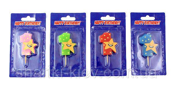 Свеча цифра в торт 1 звезда, фото 2