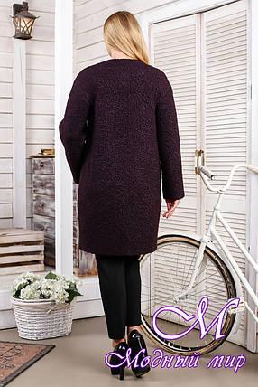 Женское модное демисезонное пальто большого размера (р. 44-66) арт. 1018 Тон 43, фото 2