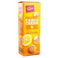 Печенье с лимонной начинкой Tastino Carlo Creme 150г