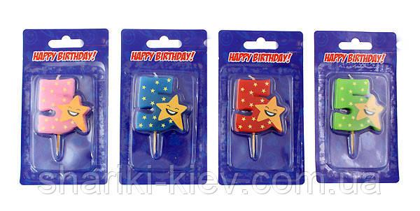 Свеча цифра в торт 5 звезда