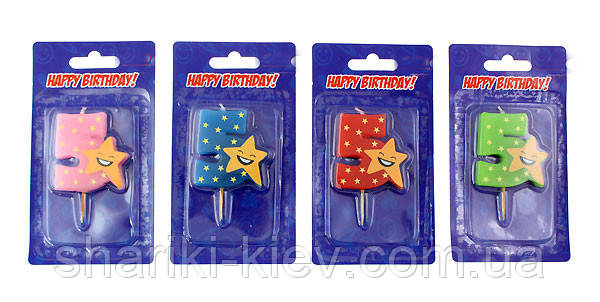 Свеча цифра в торт 5 звезда, фото 2