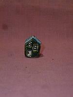Дом керамический маленький в цветочный горшок фигурка сувенир 2,4 см высота