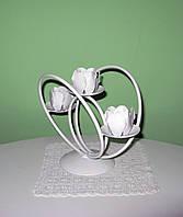 Кованый подсвечник на 3 свечи, фото 1