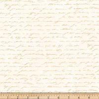 """Ткань для пэчворка и рукоделия американский хлопок """"Сады Парижа письмо"""", беж - 22*55 см"""
