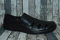 Мужские кожаные открытые туфли, мокасины, сандалии. Большие размеры
