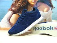 Мужские кроссовки Reebok classic (реплика) синие 43 р., фото 1