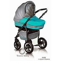 Универсальная коляска 2 в 1 Trans baby Mars(39/х99) с.серый+бирюза