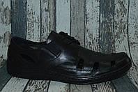 Мужские кожаные открытые туфли,  макасины, сандалии. Большие размеры
