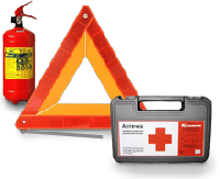 Аптечки, огнетушители и знаки