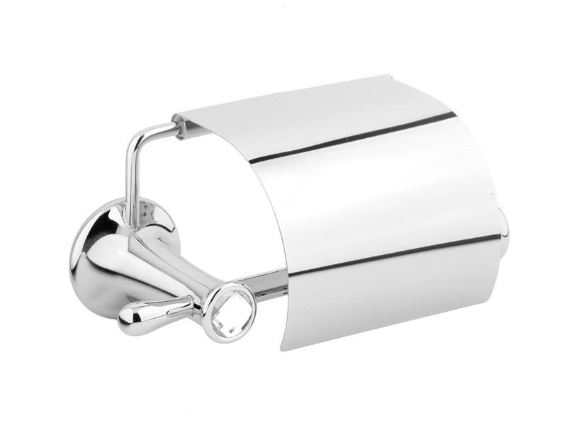 Тримач для туалетного паперу з кришкою Kugu Bavaria 311C, хром