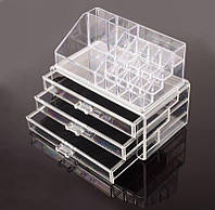 Косметичка Makeup Cosmetics Organizer Drawers Grids Display Storage Clear Acrylic!Опт