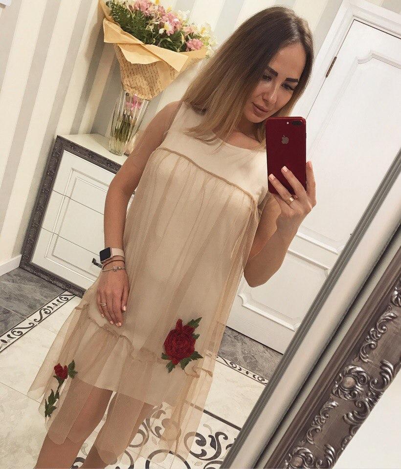 """Платье женское трикотажное молодежное """"Сетка роза"""""""