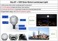 Светильник SLL-07, 12W, ландшафтный, на солнечных батареях