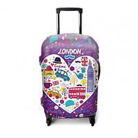 """Чехол для чемодана ТМ """"ЧехлоDan""""  Маленький, London Violet"""