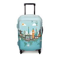 """Чехол для чемодана ТМ """"ЧехлоDan""""  Средний, Evrope Blue"""