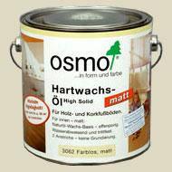 Бесцветное матовое масло OSMO 3062 с твёрдым воском (2,5л)