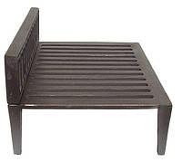 Чугунная решетка с ножками (31 х 24,5 х 17 см)