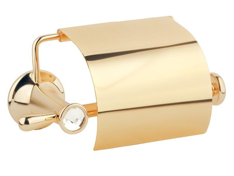 Держатель для туалетной бумаги с крышкой Kugu Bavaria 311G, золото