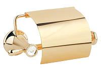 Держатель для туалетной бумаги с крышкой Kugu Bavaria, золото
