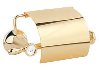 Держатель для туалетной бумаги с крышкой Kugu Bavaria 311G, золото, фото 1