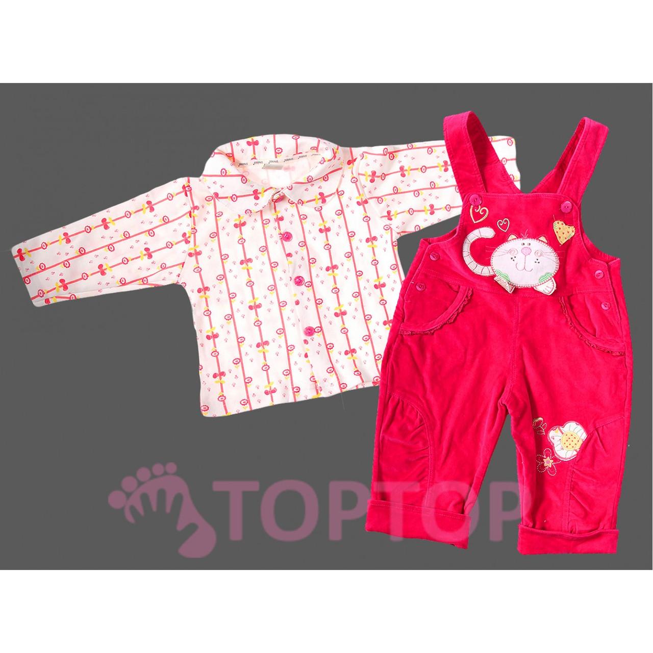 Комбинезон с рубашкой, малиновый (1-3 года)