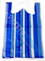 Полиэтиленовые пакеты майка полоска 38х60